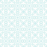 Seamless vector pattern with symmetric ornament. Abstract subtle geometric rounded lines background in pastel color. Stock Images