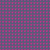 Seamless vector pattern, symmetrical background with bright pink gemstones in the shape of hearts Stock Photo
