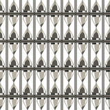 Seamless vector pattern. Symmetrical background with closeup grey sand glasses Stock Images
