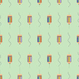 Seamless vector pattern, symmetrical background with colorful  pencils Royalty Free Stock Image