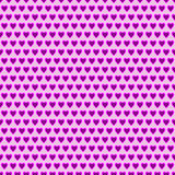 Seamless vector pattern. Symmetrical background with little pink hearts Stock Photography