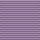 Seamless vector pattern. Symmetrical background with little violet hearts Royalty Free Stock Photo