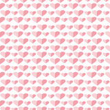 Seamless vector pattern, symmetrical background with pink hearts Stock Photos