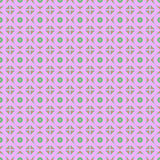 Seamless vector pattern. Symmetrical geometric abstract background with rhombus and circles in pink colors. Royalty Free Stock Image