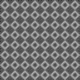 Seamless vector pattern. Symmetrical geometric abstract background with squares in black and white colors Stock Image