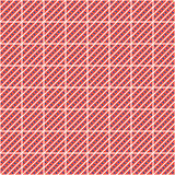 Seamless vector pattern. Symmetrical geometric abstract red background with squares, lines and dots. Decorative repeating ornament Stock Images