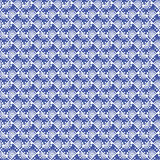 Seamless vector pattern. Symmetrical geometric background with blue rhombus. Stock Photography