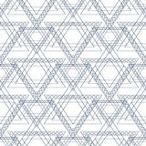 Seamless vector pattern. Symmetrical geometric background with blue triangles in the shape of stars . Decorative repeating ornamen Stock Photos