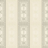 Seamless vector pattern. Symmetrical geometric background with brown rectangles on the light backdrop. Decorative ornament Royalty Free Stock Image