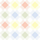 Seamless vector pattern. Symmetrical geometric background with colorful rhombus and lines. Decorative repeating ornament Stock Image