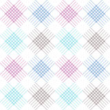Seamless vector pattern. Symmetrical geometric background with colorful rhombus and lines. Decorative repeating ornament.  Royalty Free Stock Image