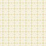 Seamless vector pattern. Symmetrical geometric background with gold squares on the white backdrop. Decorative repeating ornament Stock Photography