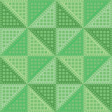 Seamless vector pattern. Symmetrical geometric background with green rhombus. Decorative repeating ornament Royalty Free Stock Images