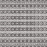 Seamless vector pattern. Symmetrical geometric background with grey lines on the dark backdrop. Decorative ornament Royalty Free Stock Photo