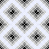 Seamless vector pattern. Symmetrical geometric background with grey rhombus. Decorative repeating ornament Stock Photo