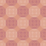 Seamless vector pattern. Symmetrical geometric background with pink polygons. Decorative repeating ornament Stock Images