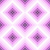 Seamless vector pattern. Symmetrical geometric background with pink rhombus. Decorative repeating ornament.  Royalty Free Stock Image