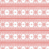 Seamless vector pattern. Symmetrical geometric background with pink squares and flowers on the white backdrop. Decorative ornament Royalty Free Stock Photos