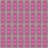 Seamless vector pattern. Symmetrical geometric background with rectangles in pink colors Royalty Free Stock Photo