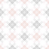 Seamless vector pattern. Symmetrical geometric  background with red and blak rhombus and lines. Decorative repeating ornament.  Royalty Free Stock Image