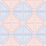 Seamless vector pattern. Symmetrical geometric background with red and blue rhombus. Decorative repeating ornament Royalty Free Stock Image