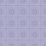 Seamless vector pattern. Symmetrical geometric background with squares on the blue backdrop. Decorative ornament Stock Photos