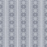 Seamless vector pattern. Symmetrical geometric background with squares and flowers on the blue backdrop. Decorative ornament Stock Photo
