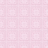 Seamless vector pattern. Symmetrical geometric background with squares on the pink backdrop. Decorative ornament Stock Images