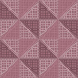 Seamless vector pattern. Symmetrical geometric background with violet rhombus. Decorative repeating ornament Stock Photos