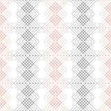 Seamless vector pattern. Symmetrical geometric black and red background. Decorative repeating ornament Royalty Free Stock Image
