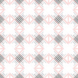 Seamless vector pattern. Symmetrical geometric black and red background with rhombus and lines. Decorative repeating ornament Royalty Free Stock Photo
