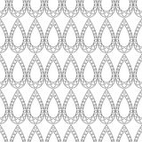 Seamless vector pattern. Symmetrical geometric black and white background with drops. Decorative repeating ornament Stock Photos