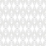 Seamless vector pattern. Symmetrical geometric black and white background with drops. Decorative repeating ornament Royalty Free Stock Photos