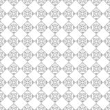Seamless vector pattern. Symmetrical geometric black and white background with rhombus. Decorative repeating ornament Royalty Free Stock Images