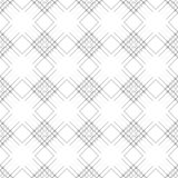Seamless vector pattern. Symmetrical geometric black and white background with rhombus and lines. Decorative repeating ornament.  Royalty Free Stock Photography