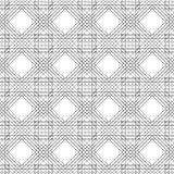Seamless vector pattern. Symmetrical geometric black and white background with rhombus and lines. Decorative repeating ornament Royalty Free Stock Photography