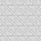Seamless vector pattern. Symmetrical geometric black and white background with triangles. Decorative repeating ornament Royalty Free Stock Photos