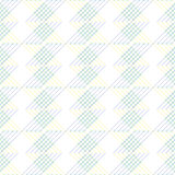 Seamless vector pattern. Symmetrical geometric blue and yellow background. Decorative repeating ornament Stock Photo