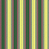 Seamless vector pattern. Symmetrical geometric green, pink and yellow background with lines and dots. Decorative repeating ornamen Stock Photos