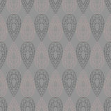 Seamless vector pattern. Symmetrical geometric grey background with drops. Decorative repeating ornament Royalty Free Stock Images