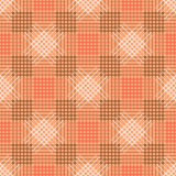 Seamless vector pattern. Symmetrical geometric pastel red background with rhombus, squares and lines.. Decorative repeating ornament Stock Images