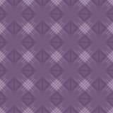 Seamless vector pattern. Symmetrical geometric violet background with rhombus and lines. Decorative repeating ornament Stock Images