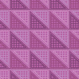 Seamless vector pattern. Symmetrical geometric violet background with triangles. Decorative repeating ornament Royalty Free Stock Images