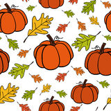 Seamless vector pattern of Thanksgiving Royalty Free Stock Image