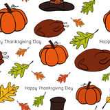 Seamless vector pattern of Thanksgiving Stock Image