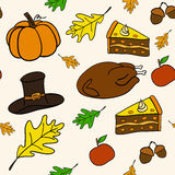 Seamless vector pattern of Thanksgiving Stock Photography