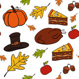 Seamless vector pattern of Thanksgiving Royalty Free Stock Photo
