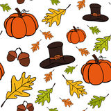 Seamless vector pattern of Thanksgiving Stock Photos