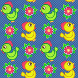 Seamless vector pattern with toys Royalty Free Stock Image