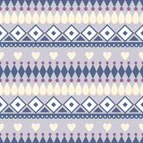 Seamless vector pattern.  Traditional ethno background in blue colors. Series of National, Folk, Ethnic and Traditional Seamless Patterns Royalty Free Stock Image